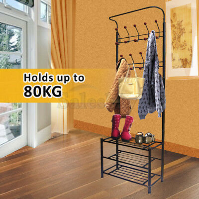 Metal Coat Hat Bag Clothes cloth Shoe Rack Stand Shelf Garment Hanger Hooks