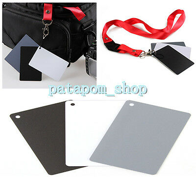 Digital Color Card 18%Gray Black White Exposure Balance Card Strap for Photo SLR