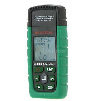 Mastech MS6900 Digital Moisture Meter Wood/ Lumber/Concrete Humidity Tester S8VS