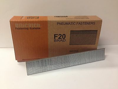 "18 Gauge F20 3/4"" long Galvanized Chisel Point Brad Nails 5,000 per box AX11"