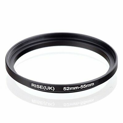 RISE(UK) 52mm-55mm 52-55 mm 52 to 55 Step Up Ring Filter Adapter black