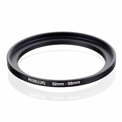RISE(UK) 52mm-58mm 52-58 mm 52 to 58 Step Up Ring Filter Adapter black