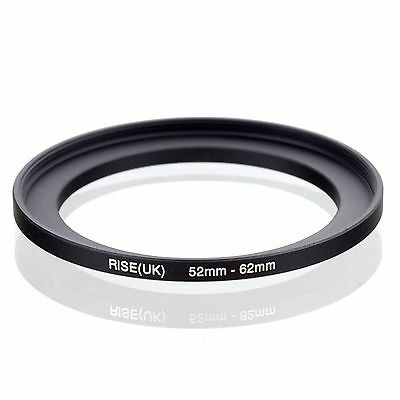 RISE(UK) 52mm-62mm 52-62 mm 52 to 62 Step Up Ring Filter Adapter black