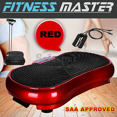 2016 Vibration Platform Plate Trainer Machine Whole Body Fitness Massager Red
