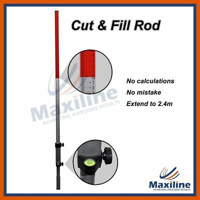 Cut and Fill Rod Staff Staves for Rotary Rotating Laser Levels Floor leveling