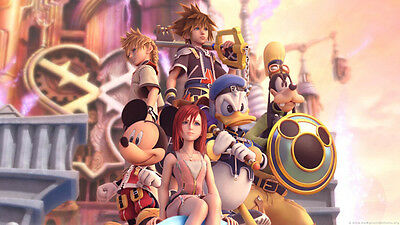 "Kingdom Hearts 2 Boy Game Wall Poster 21""x13"" K001"