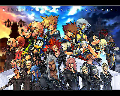 "Kingdom Hearts 2 Boy Game Wall Poster 16/""x13/"" K031"