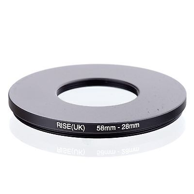 RISE(UK) 58mm-28mm 58-28 mm 58 to 28 Step down Ring Filter Adapter black