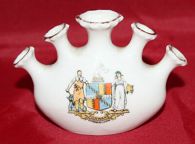 Gemma Crested China - Unusual Five Hole vase - Birmingham Crest