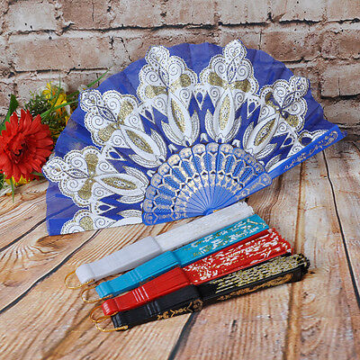 Spanish Flamenco Bris¨¦ Style Flower Folding Fretwork Painted Hand Fan