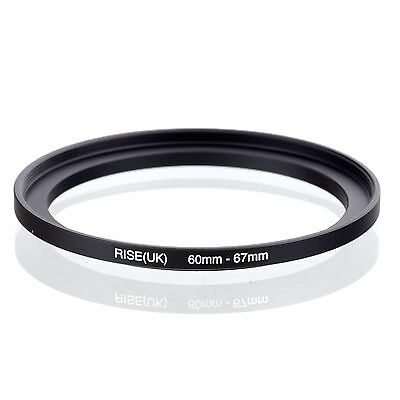 RISE(UK) 60mm-67mm 60-67 mm 60 to 67Step Up Ring Filter Adapter black