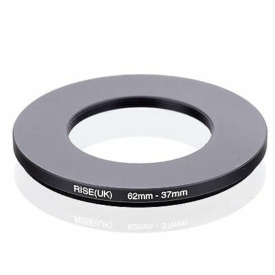 RISE(UK) 62mm-37mm 62-37 mm 62 to 37 Step down Ring Filter Adapter black