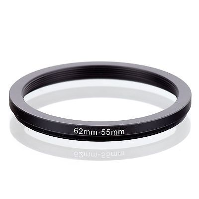 RISE(UK) 62mm-55mm 62-55 mm 62 to 55 Step down Ring Filter Adapter black