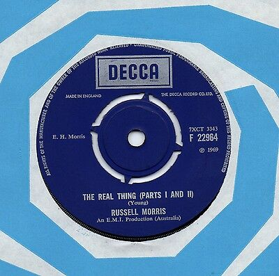 RUSSELL MORRIS the real thing*it's only a matter of time 1969 UK DECCA 45