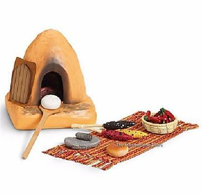 American Girl JOSEFINA's MEXICAN OUTDOOR ADOBE OVEN, BREAD & FOOD SET New in Box