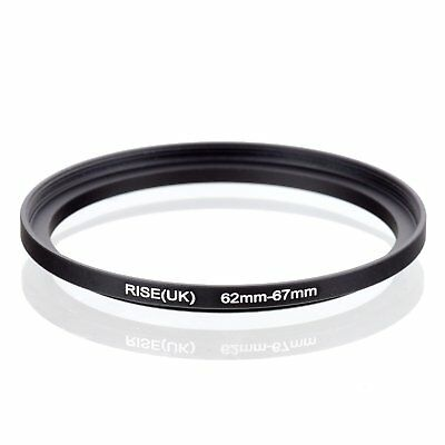 RISE(UK) 62mm-67mm 62-67 mm 62 to 67 Step Up Ring Filter Adapter black