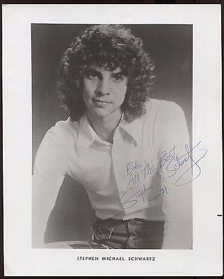 Stephen Michael Schwartz Signed 8x10 Photo  Autographed AUTO Please Stand By