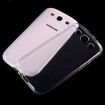 2xUltra Thin Clear Gel Skin Case Cover For Samsung Galaxy S3 i9300