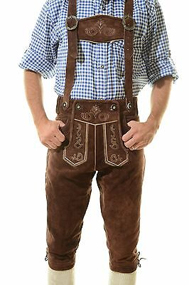 Authentic German Kniebund Lederhosen Oktoberfest Tracht dark brown ^^ HANS ^^