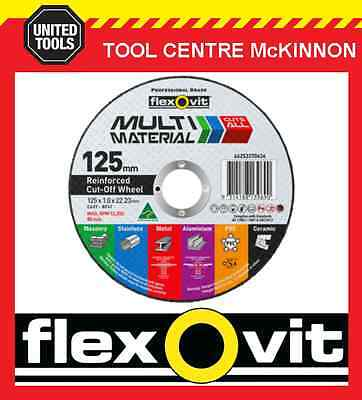 """5 x FLEXOVIT 125mm / 5"""" MULTI MATERIAL CUT-OFF WHEEL – CUTS JUST ABOUT ANYTHING"""