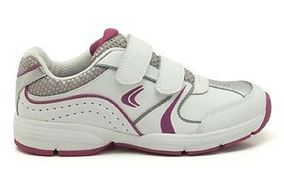 New Clarks Girls FluencyJet Inf  Sports Shoes in White Leather 11/11.5/12/12.5