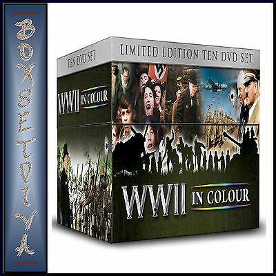 Wwii In Colour - Limited Edition **Brand New 10 Dvd Boxset*