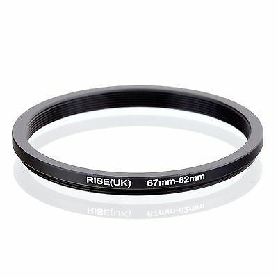 RISE(UK) 67mm-62mm 67-62 mm 67 to 62 Step down Ring Filter Adapter black