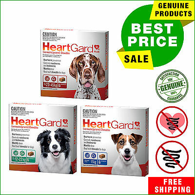 Heartgard Plus Chewable for Dogs All Sizes 6 Chews by Merial Heartworm Treatment