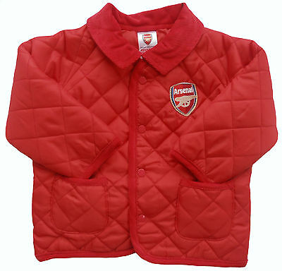 Arsenal F.C Boys Lightweight Quilted Jacket Official Merchandise 18-23 Months