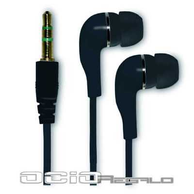 Auriculares para ZTE Blade S6 Plus S6+ Cascos Negro Jack 3,5 Movil In-Ear Oido