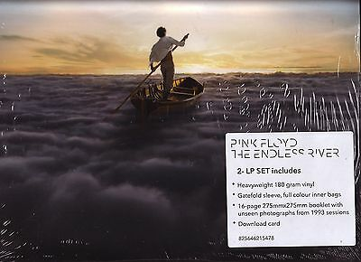"PINK FLOYD ""The Endless River"" 18 Track Doppel VINYL + 16 Page Booklet + Downloa"