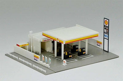 TOMIX Structure N Scale 1/150 : 4072 Gas Station (Shell)