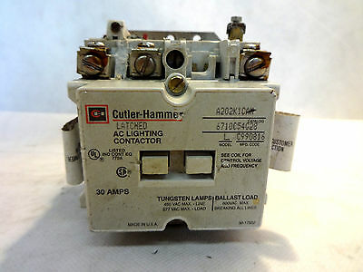 Cutler Hammer A202K1Cam Latched Lighting Contactor 110/120V Coil