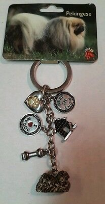 PEKINGESE Key Chain - Little Gifts - Purse Backpack 6 Charms NEW