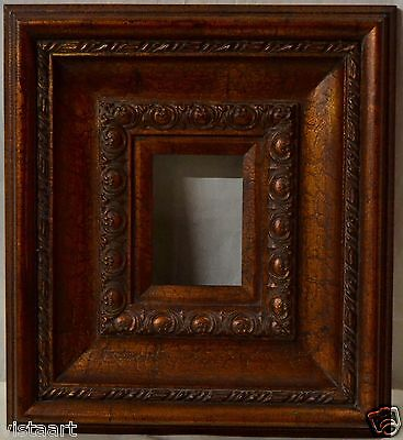 Copper Finish Antique Style Frame w. Beautiful Decorative Patterns 5x7""