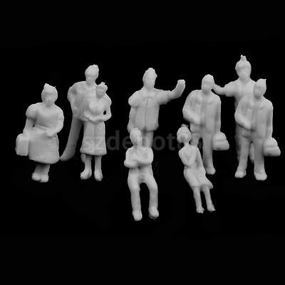 100 White Unpainted People Figure Model Train Railway Diorama park Scenery N