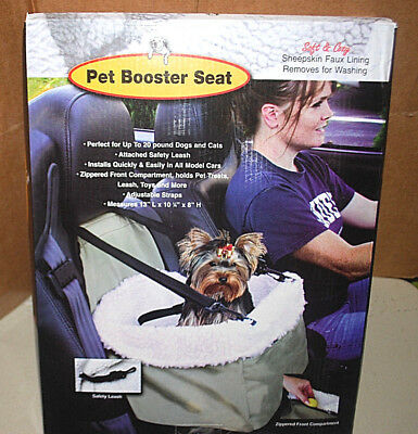 Pet Car BOOSTER Comfortable Seat & Carrier For Cats & Dogs (NIB) (#S5464)
