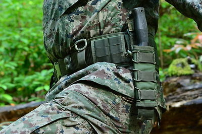 Universal pouch for scabbard compatible with the M.O.L.L.E. (Olive)