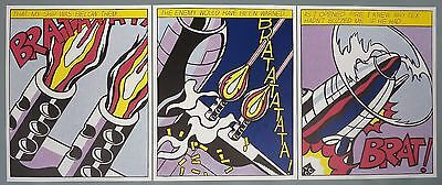 "Roy Lichtenstein - Triptychon ""As I Opened Fire"" Offsetlithographie"