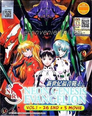 Neon Genesis Evangelion Vol.1-26 End +5 Movie Original Anime DVD Box Set
