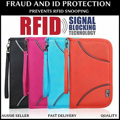 TS Large RFID Blocking Family Travel Passport Card Wallet Holder Pouch