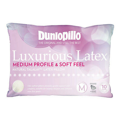 Dunlopillo LUXURIOUS LATEX Medium Profile Soft Feel Pillow