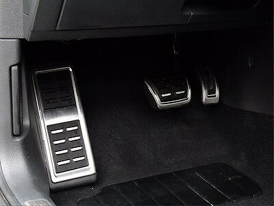 3pcs DSG Gas Brake Foot Pedal Cover AT pedal For Audi A3 S3 RS3 (8V) 2014+