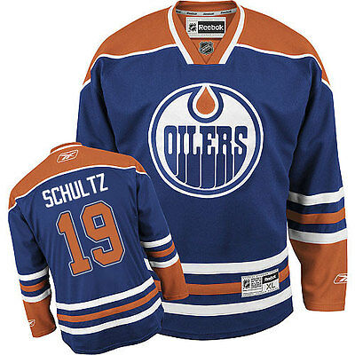 NHL Edmonton Oilers Justin Shultz Premier Youth Ice Hockey Shirt Jersey