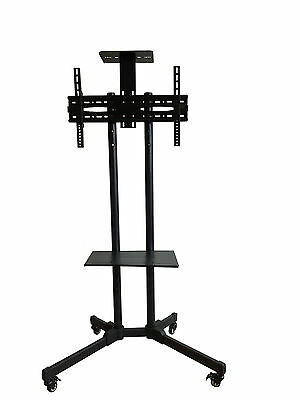 """Training Room Portable Display TV Stand Trolley With Shelf For 32"""" 60"""" TV's"""