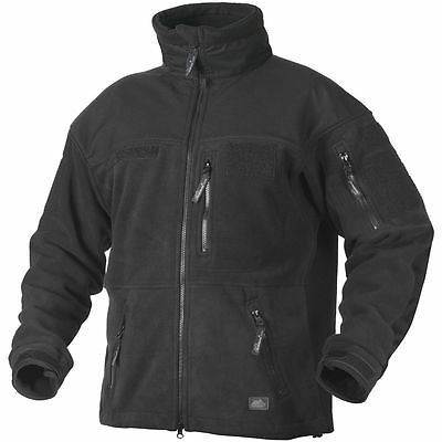 Helikon Infantry Fleece Jacket Tactical Double Army Mens Combat Security Black
