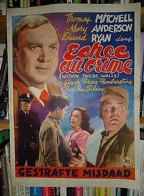 PRISON/ WITHIN THESE WALLS/THOMAS MITCHELL/ MA29S/ belgian  poster