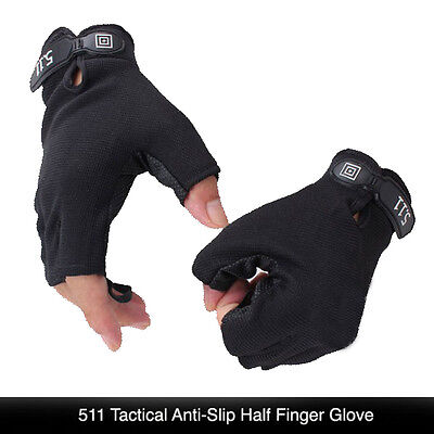 5.11 Tactical Anti-Slip Half Finger Glove Outdoor Gloves Great Quality One Size