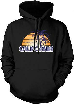 Sunset California Wave Surfing Palm Trees West Coast Pride Long Sleeve Thermal