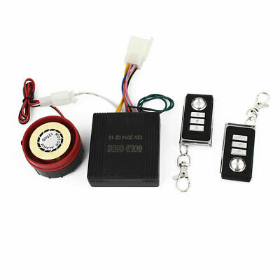 Motorbike Rectangle Remote Controller Anti-theft Security Alarm System 4 in 1